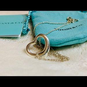 tiffany elsa peretti open heart necklace